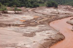 Aspecto das margens do Rio Doce em dezembro de 2015. Foto: Dante Pavan.