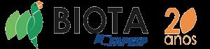 BIOTA FAPESP - Logo comemorativo +20 - 300x70